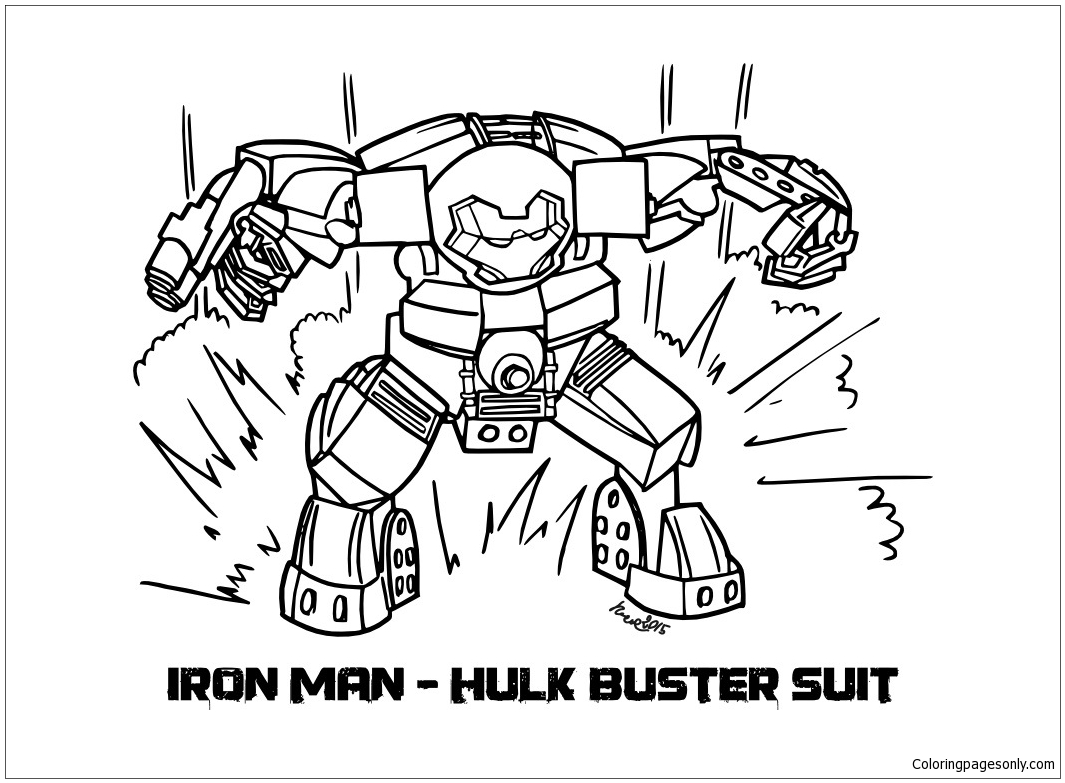 Lego Iron Man Hulkbuster Coloring