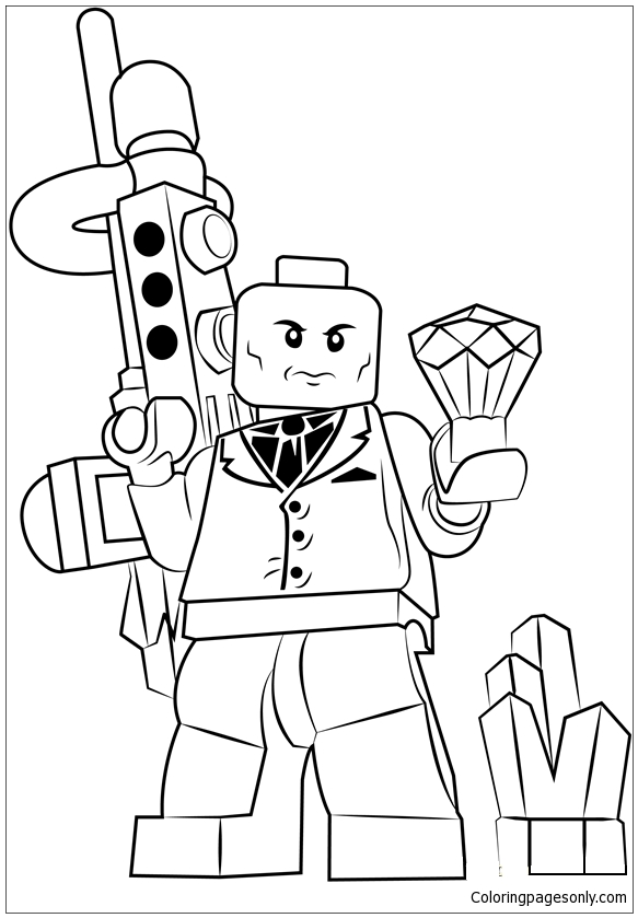 Lego Lex Luthor Coloring Page - Free Coloring Pages Online