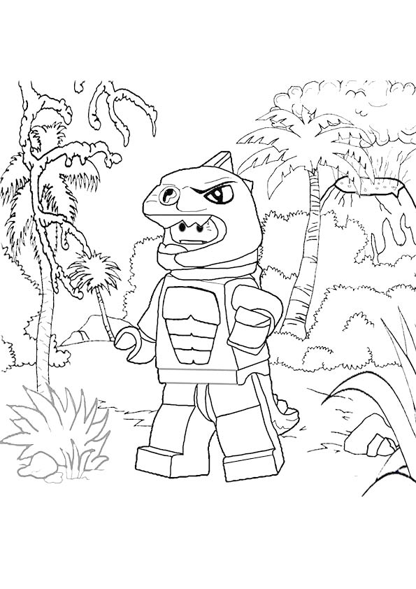 Lego Lizard Man Coloring Page