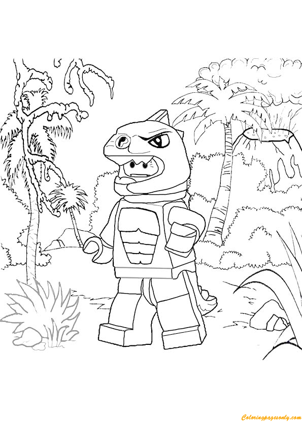 Lego Lizard Man Coloring Page Free Coloring Pages Online