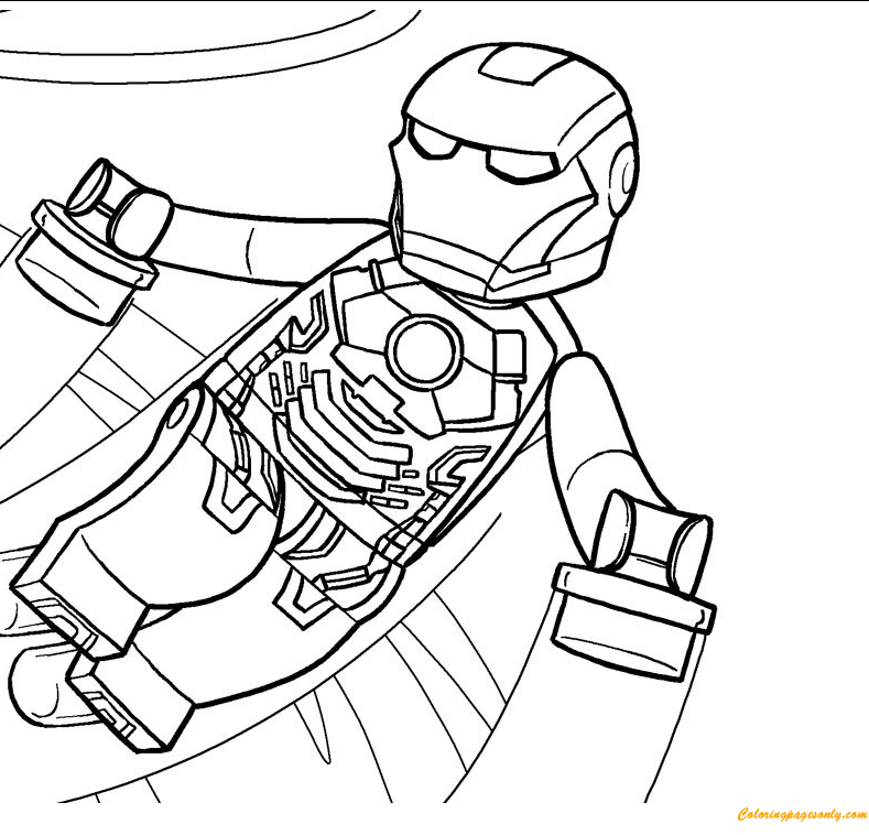 Lego Movie Coloring Page Free