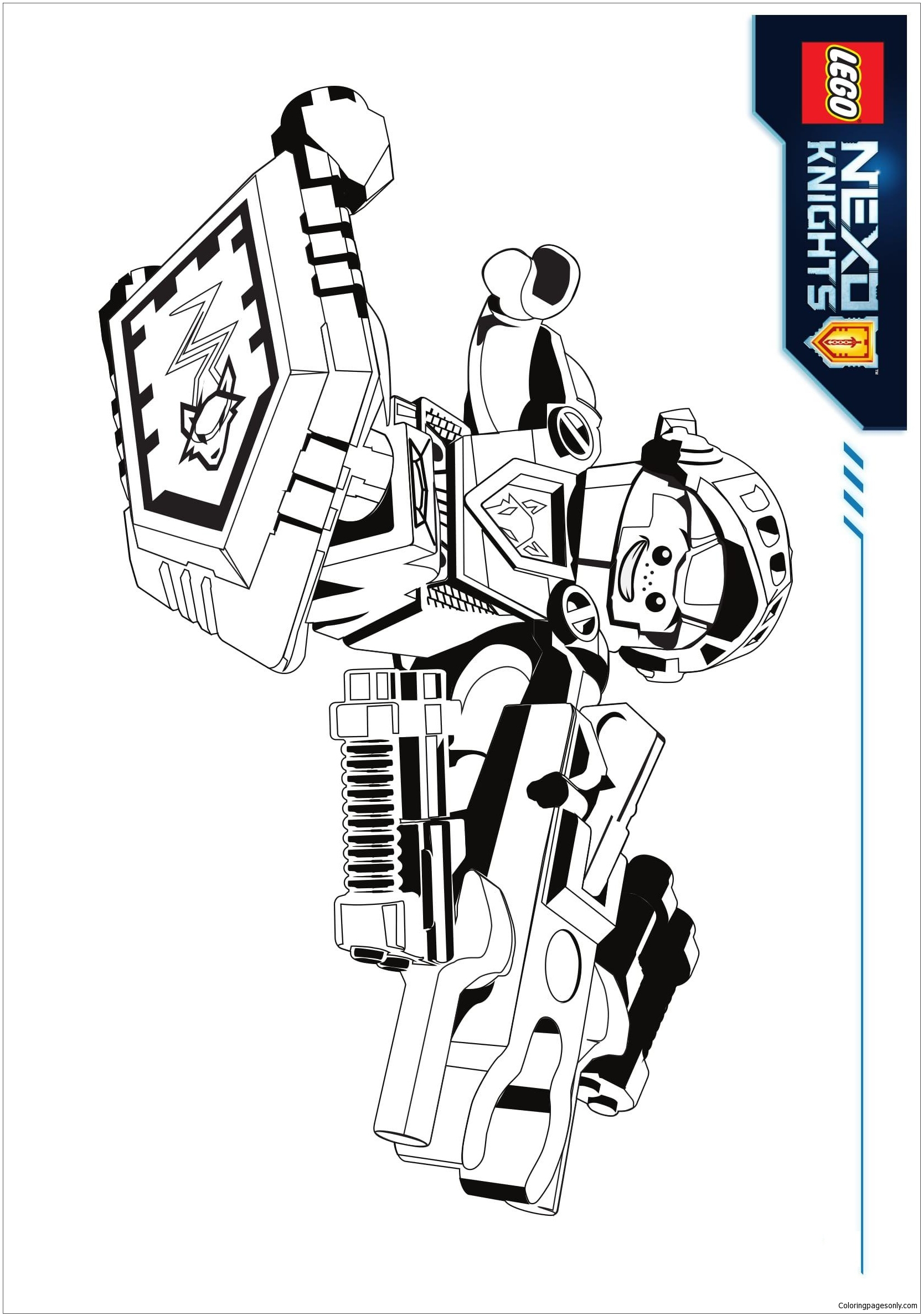 Lego Nexo Knights Aaron Coloring Page