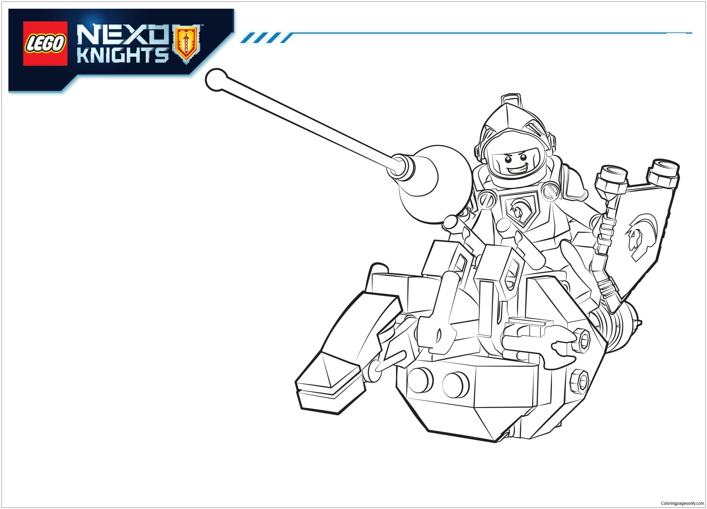 Lego Nexo Knights Lance Coloring