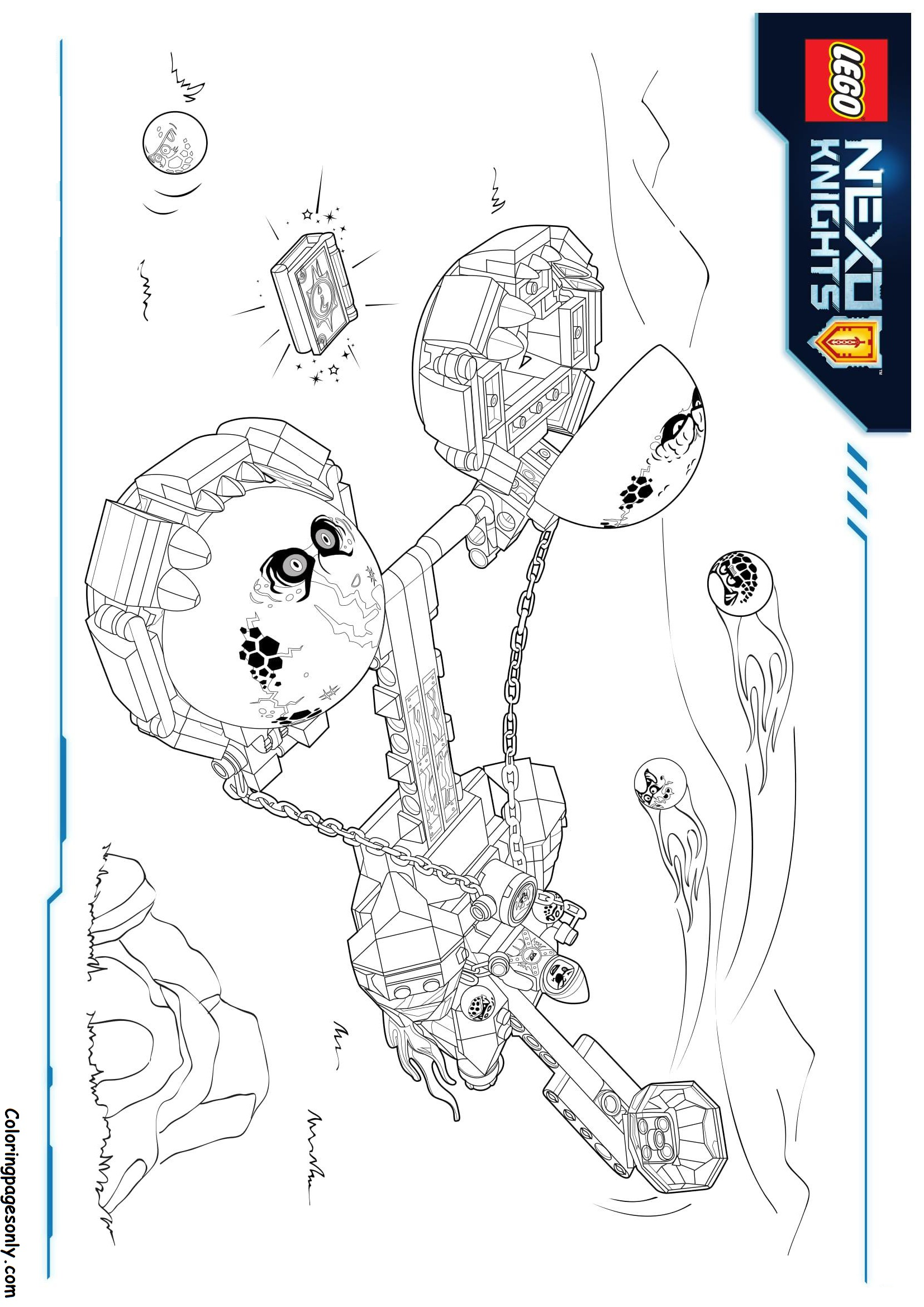 Lego Nexo Knights Monster Coloring Page Free Coloring Pages line