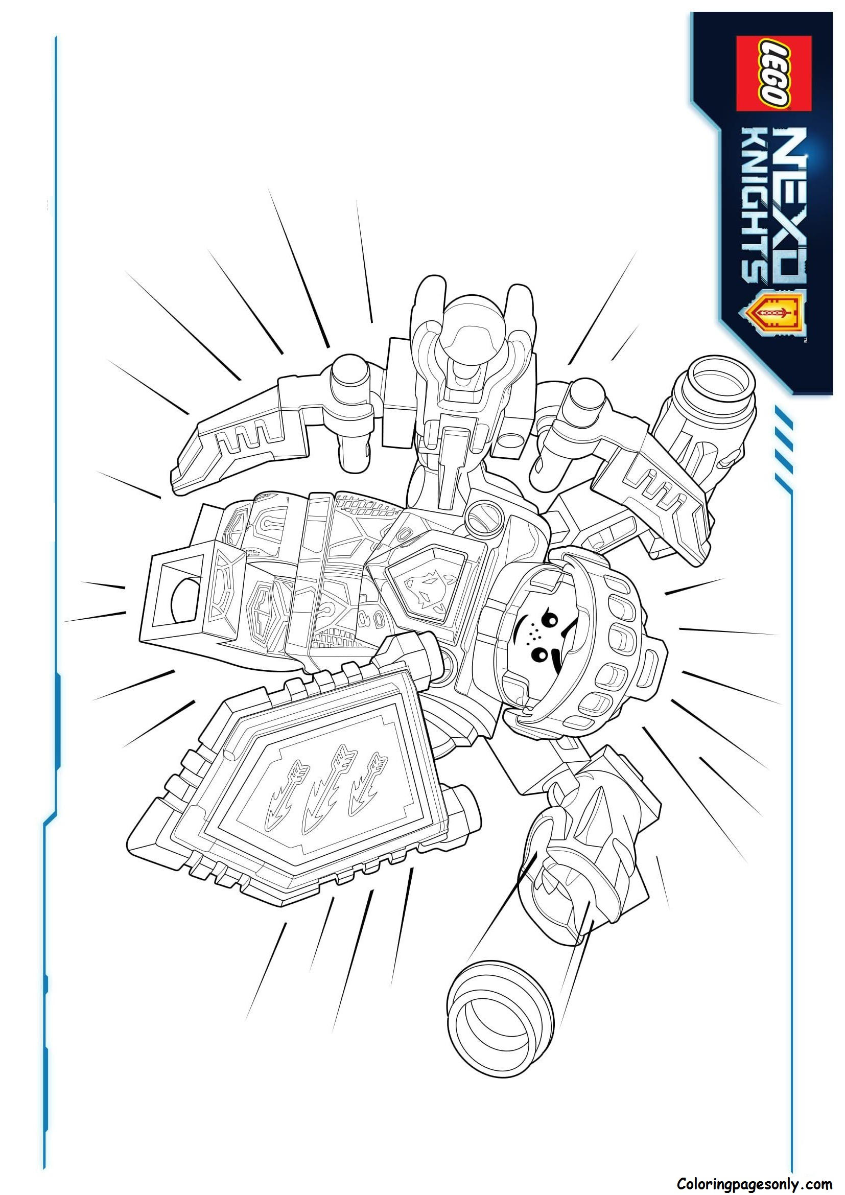 Fresh Lego Knights Kingdom Coloring Pages