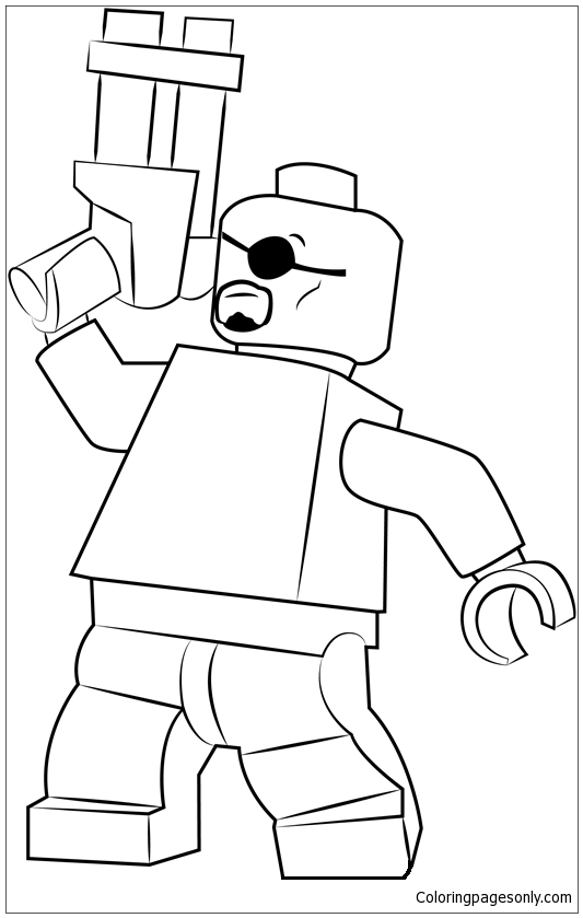 Lego Nick Fury Coloring Pages Toys And Dolls Coloring Pages Free Printable Coloring Pages Online