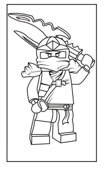 Lego Ninja Sword Coloring Page