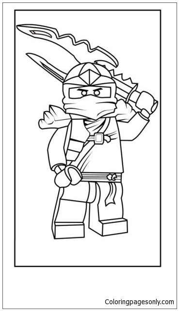 Lego Ninja Sword Coloring Page Free Coloring Pages Online