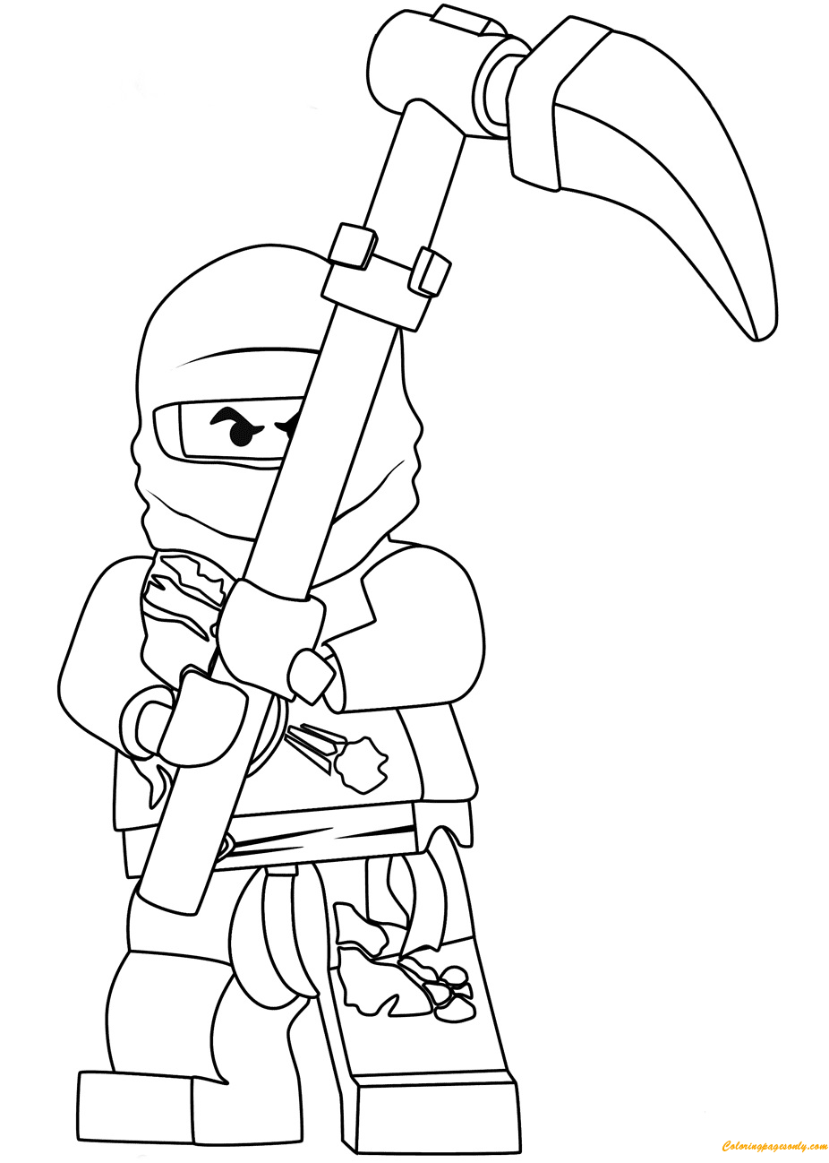 lego ninjago cole coloring page free coloring pages