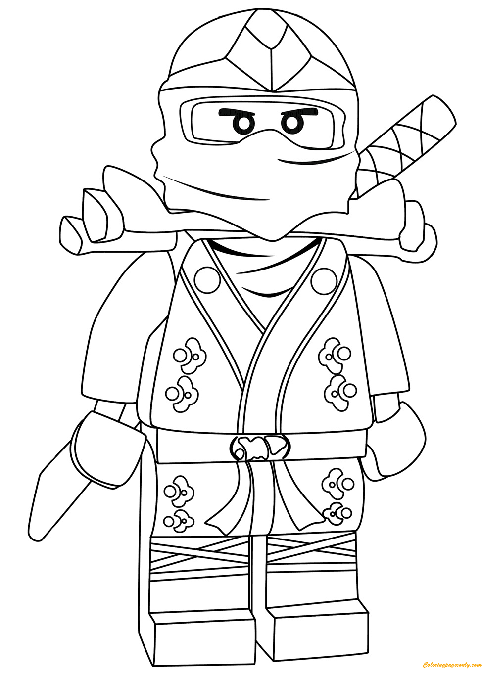 Lego Ninjago Lloyd Green Ninja ZX Coloring Page Free