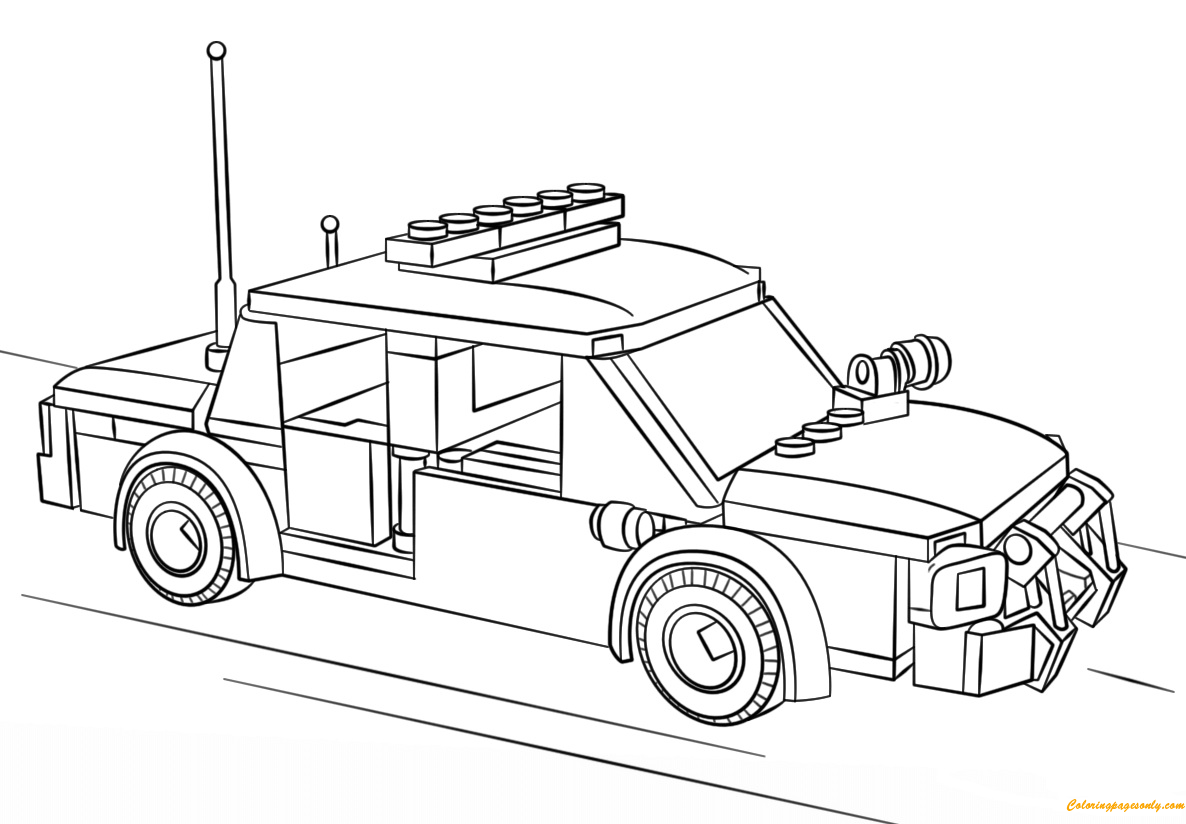 lego police car coloring page free coloring pages online. Black Bedroom Furniture Sets. Home Design Ideas