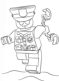 Lego Police Officer City