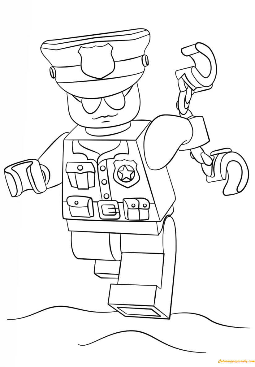 Lego Police Officer Coloring Page