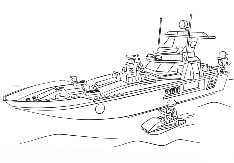 Lego Police Patrol Boat