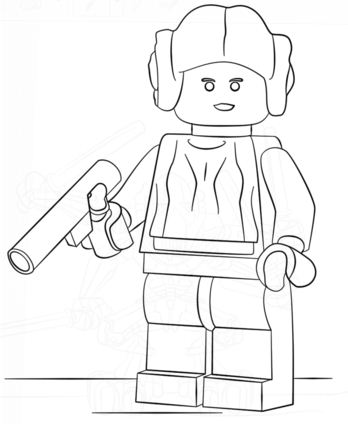 lego princess leia - Lego Princess Leia Coloring Pages