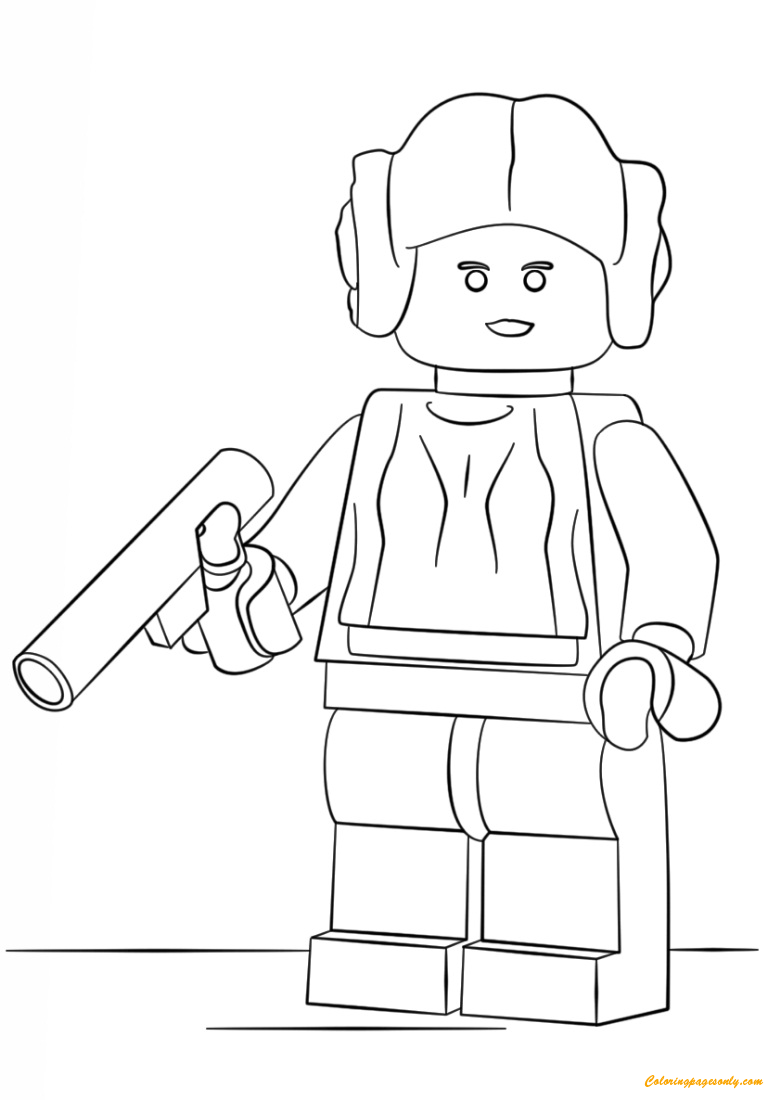Lego Princess Leia Coloring Page