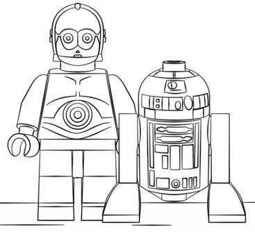 Lego R2D2 And C3PO