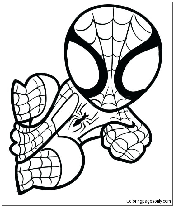 Lego Spiderman 1 Coloring Page - Free Coloring Pages Online