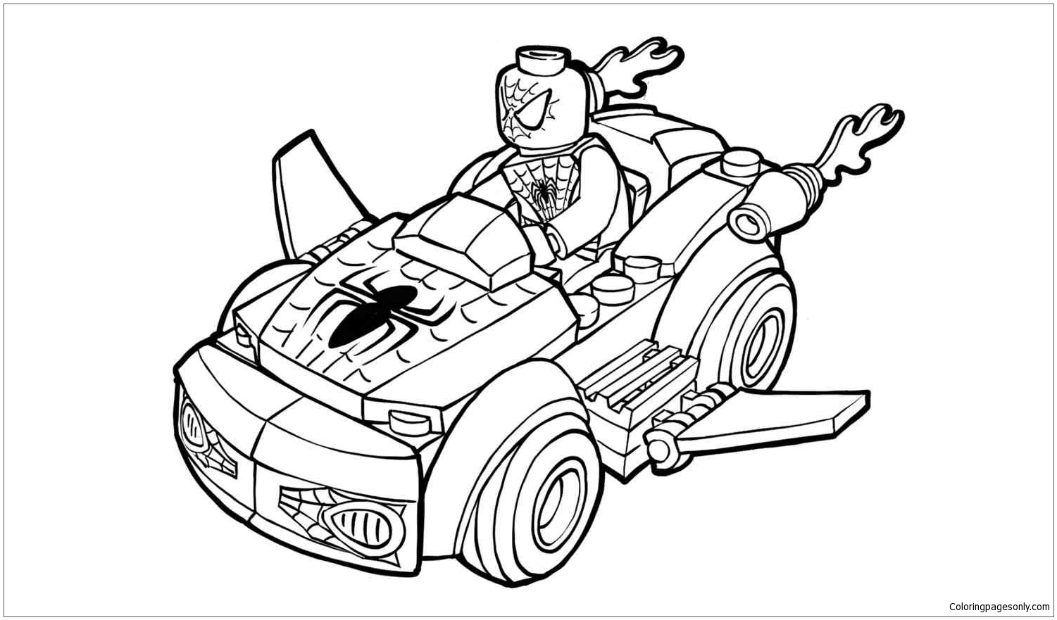 Lego Spiderman Coloring Page - Free Coloring Pages Online