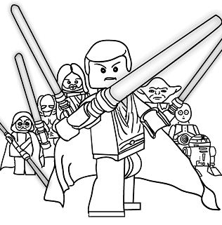 Lego Princess Leia Coloring Page - Free Coloring Pages Online