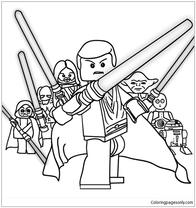 lego star wars 2 coloring page  free coloring pages online