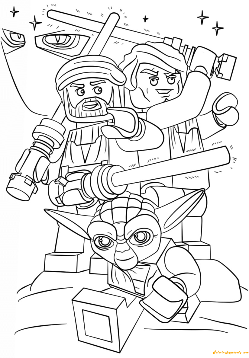 Lego star wars 3 the clone wars coloring page free for Count dooku coloring pages