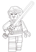 Lego Star Wars Anakin Skywalker Coloring Page