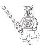 Lego Star Wars Darth Maul Coloring Page