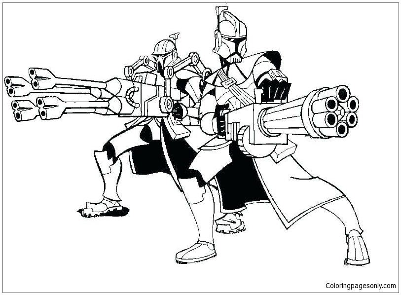 Free Star Wars Captain Rex Coloring Pages, Download Free Clip Art ... | 598x813