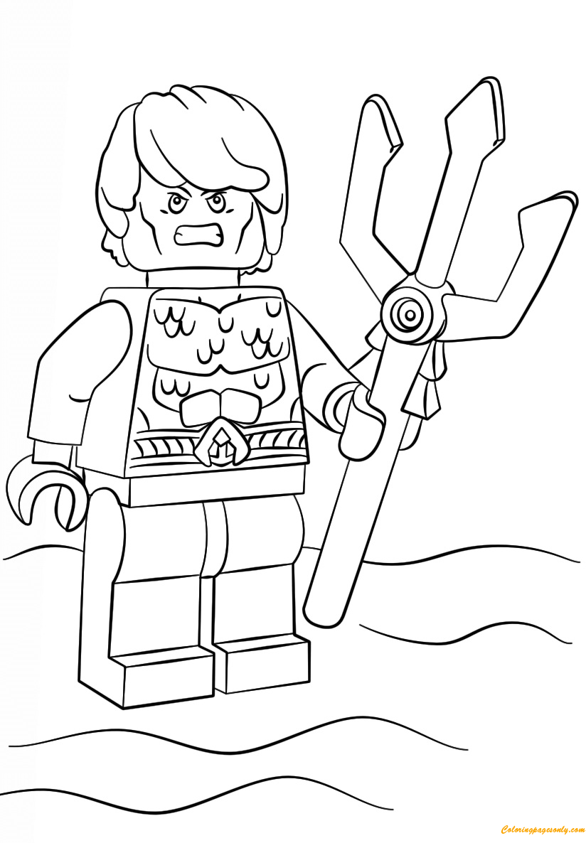 Lego Super Heroes Aquaman Coloring