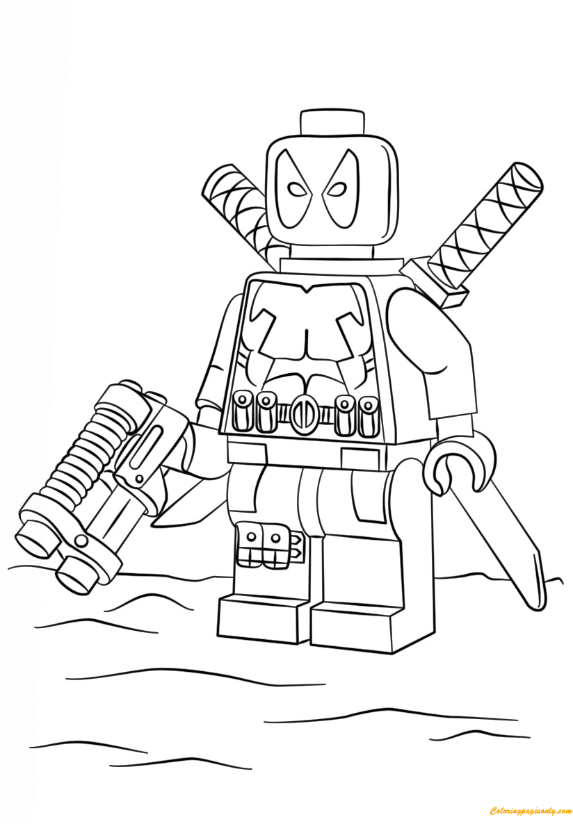 Lego Super Heroes Deadpool Coloring