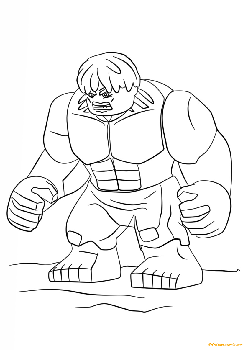 Lego Super Heroes Hulk Coloring Page - Free Coloring Pages ...