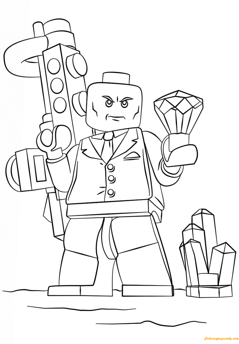 Ausmalbilder Hulk Lego: Lego Super Heroes Lex Luthor Coloring Page