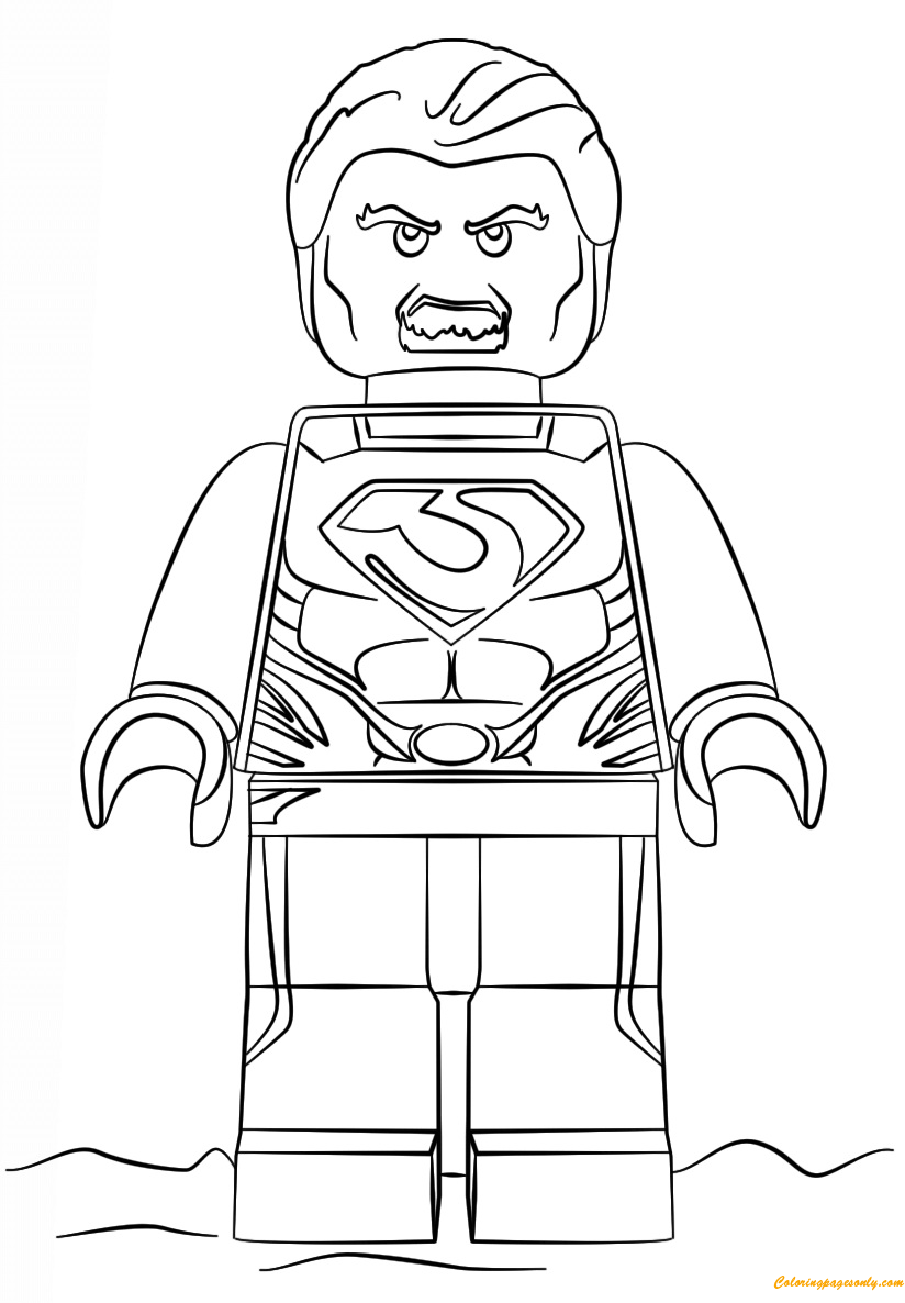Lego Super Heroes Man of Steel Coloring Page Free