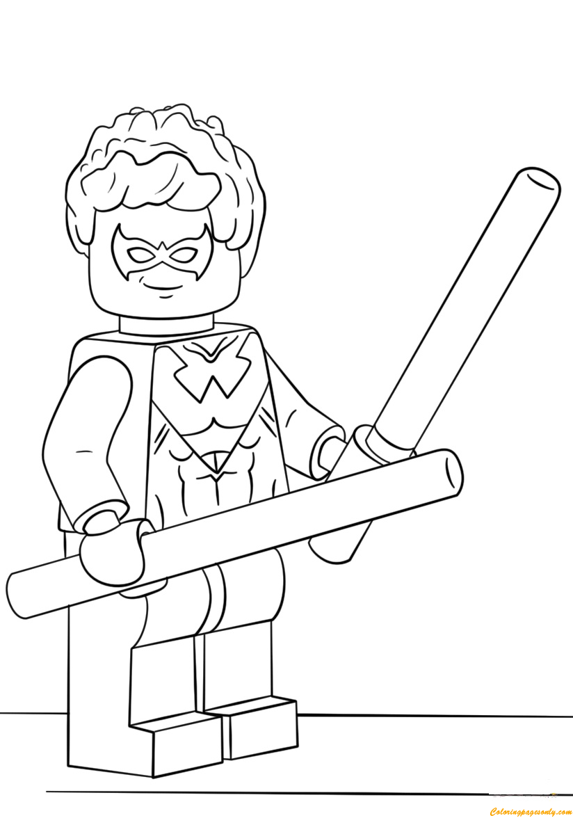 lego heroes nightwing coloring page free coloring