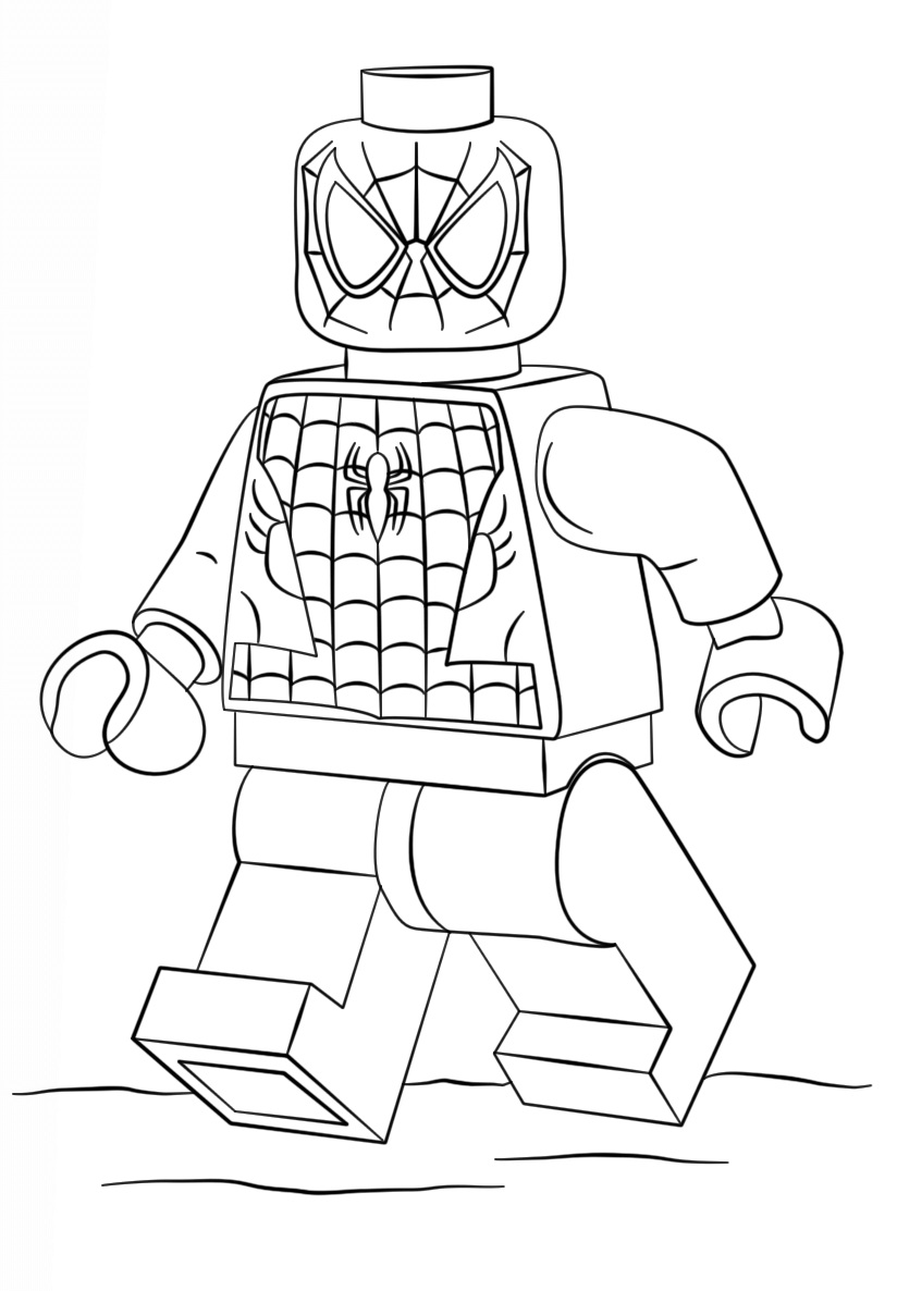 Lego Super Heroes Spiderman Coloring Page