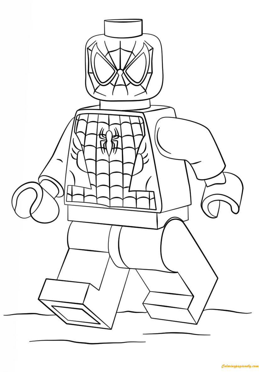 Lego Super Heroes Spiderman Coloring Page - Free Coloring ...