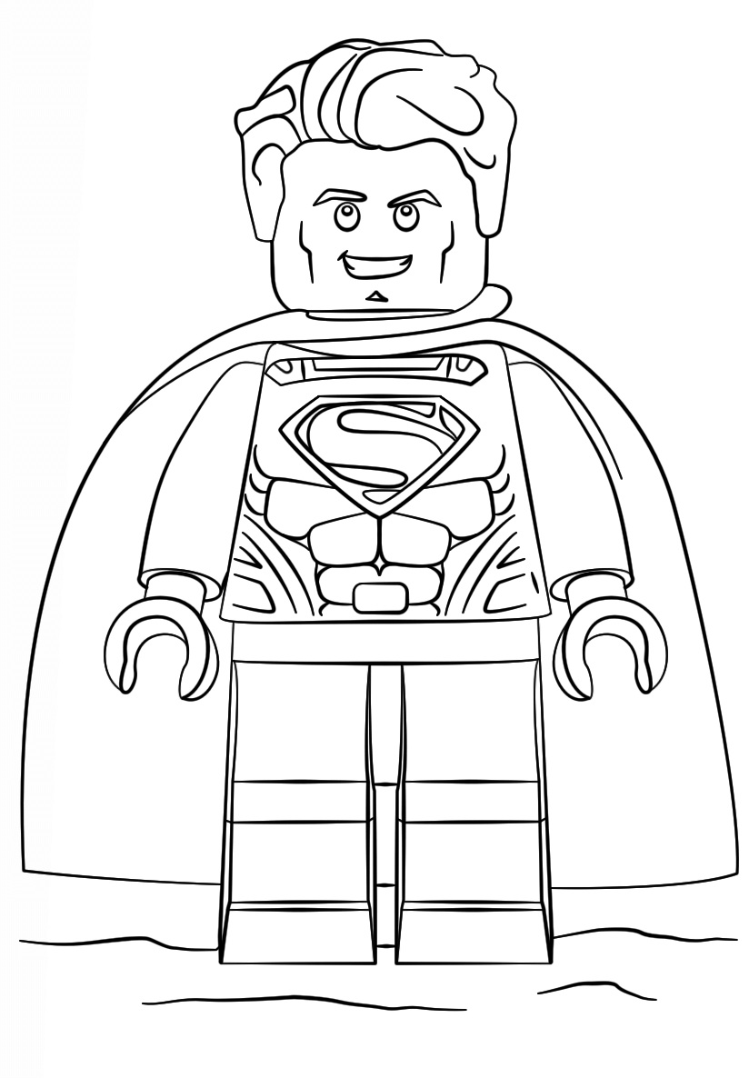 Lego City Waiter Coloring Page - Free Coloring Pages Online