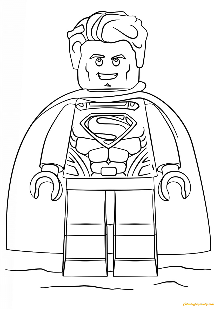 Lego Super Heroes Superman Coloring Page Free Coloring