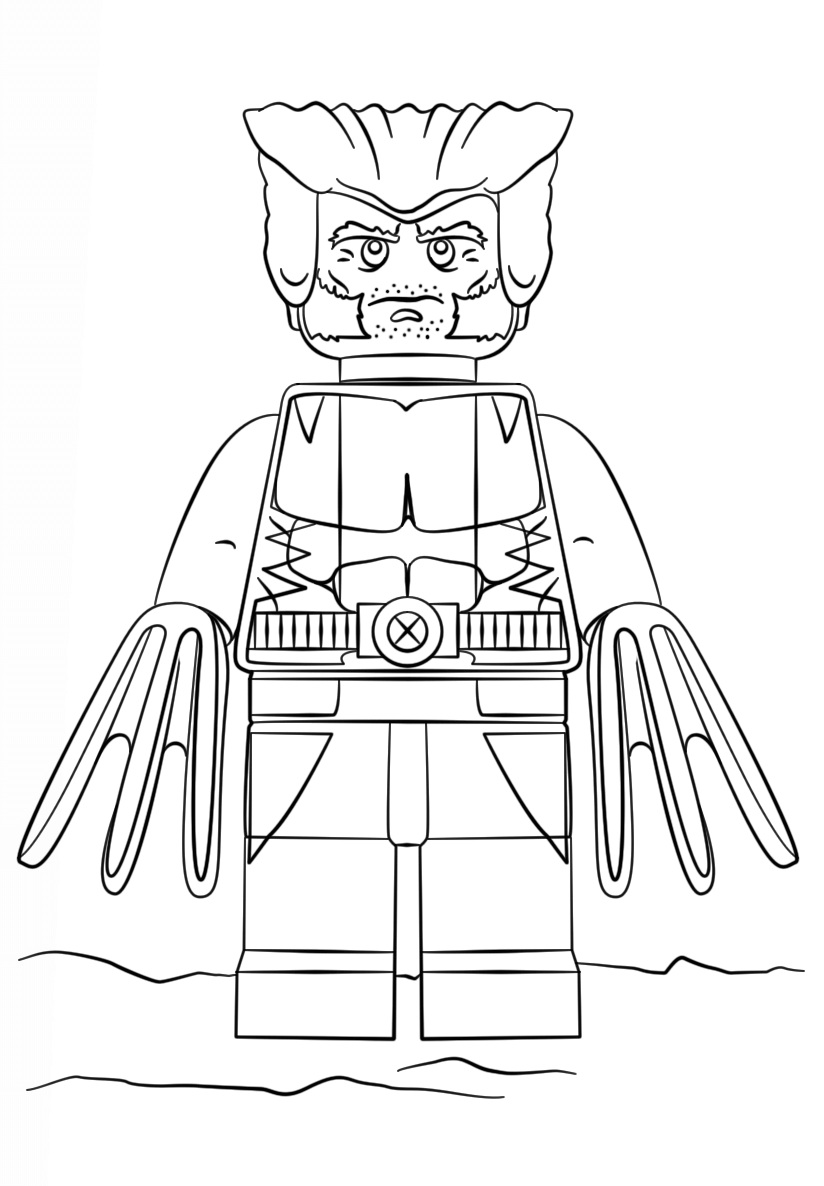Lego harry potter coloring pages printable - Lego Super Heroes Wolverine