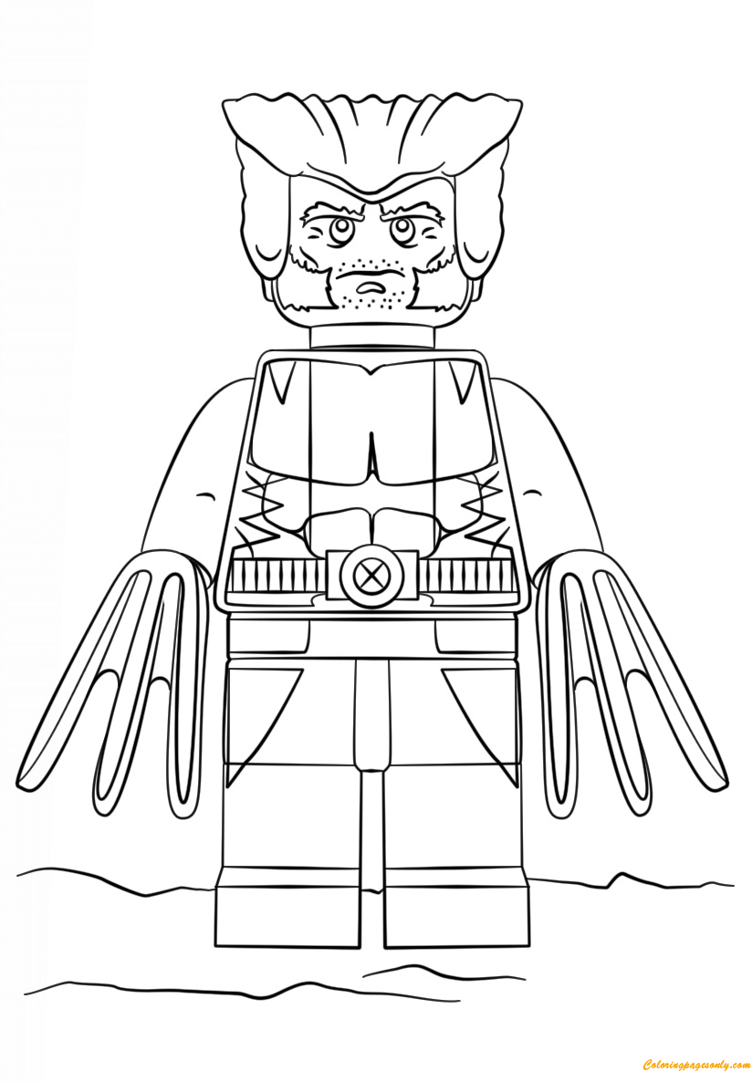 Marvel Malvorlagen Marvel Superhero The Marvel Super: Lego Super Heroes Wolverine Coloring Page