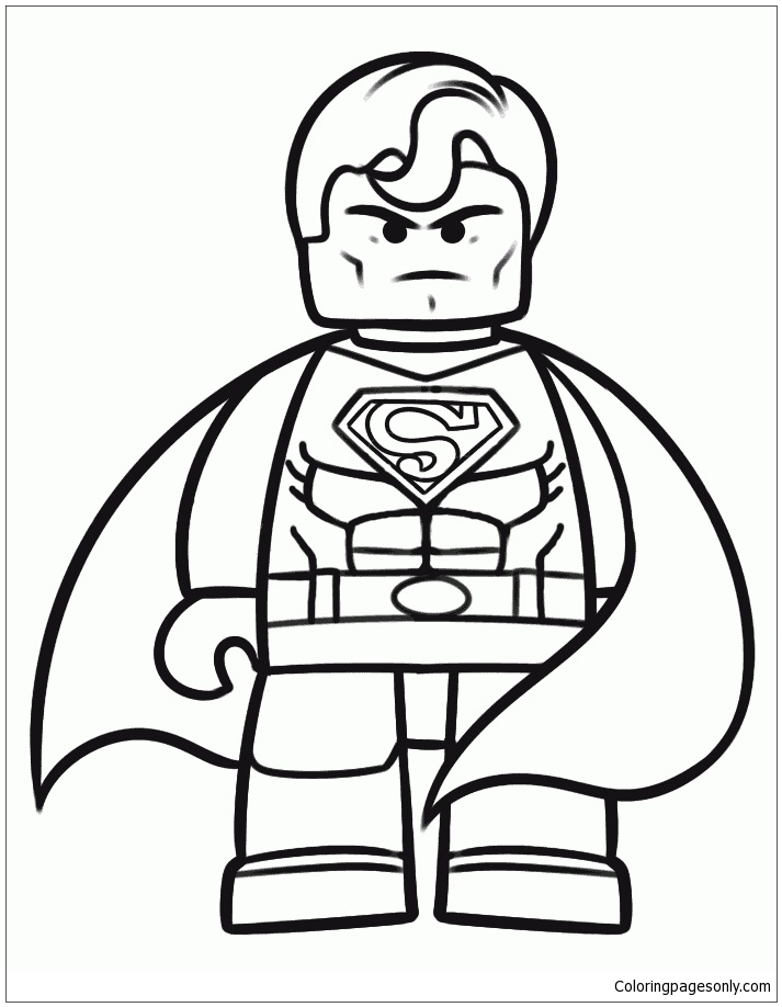 Lego Superman 1 Coloring Page Free Coloring Pages Online