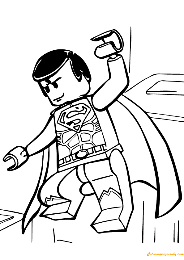 Lego Superman Coloring Page Free Coloring Pages Online