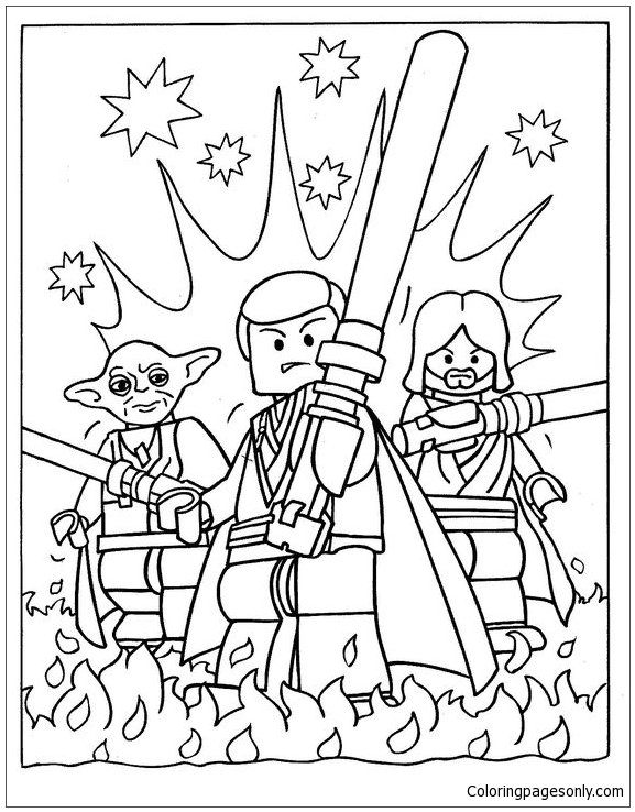 Lego Team Members Coloring Page