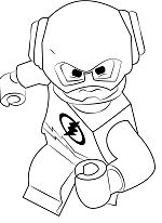 Lego The Flash Coloring Page