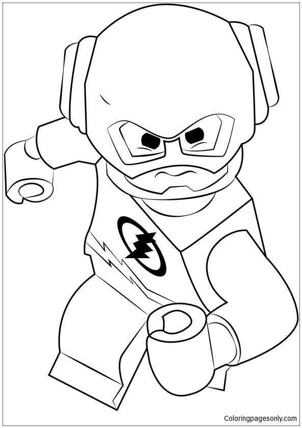 Lego The Flash Coloring Page Free Coloring Pages Online
