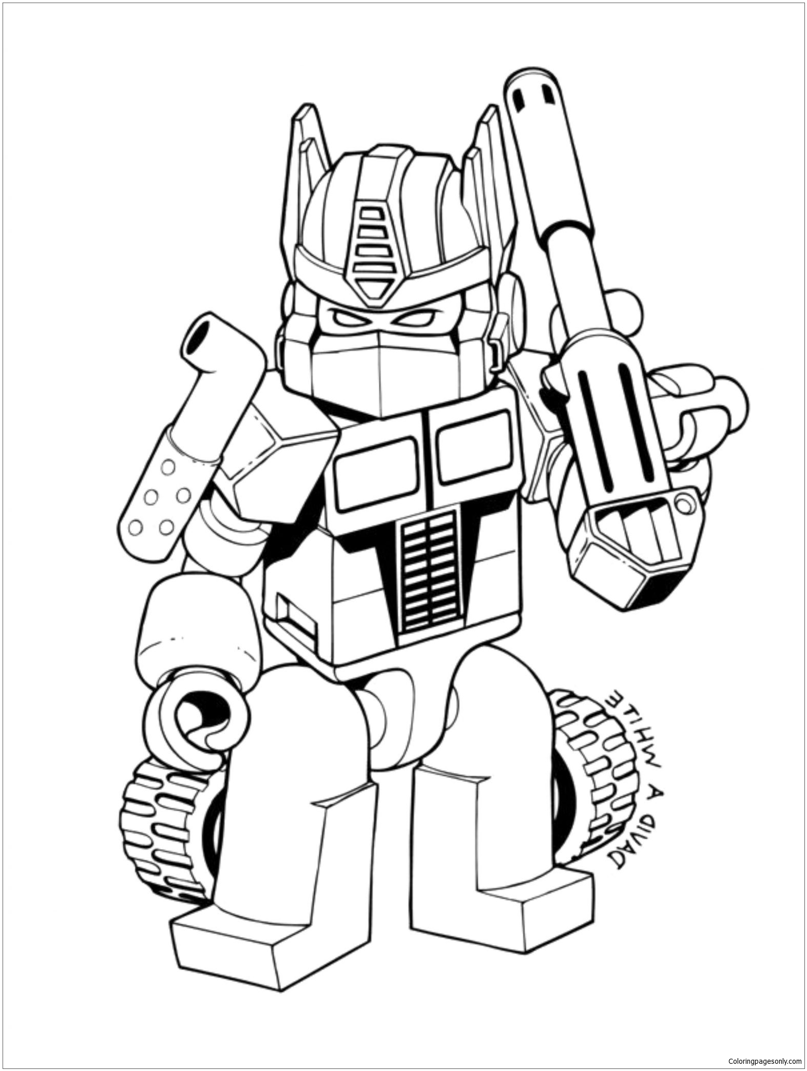 Lego Transformers Coloring Page Free Coloring Pages Online