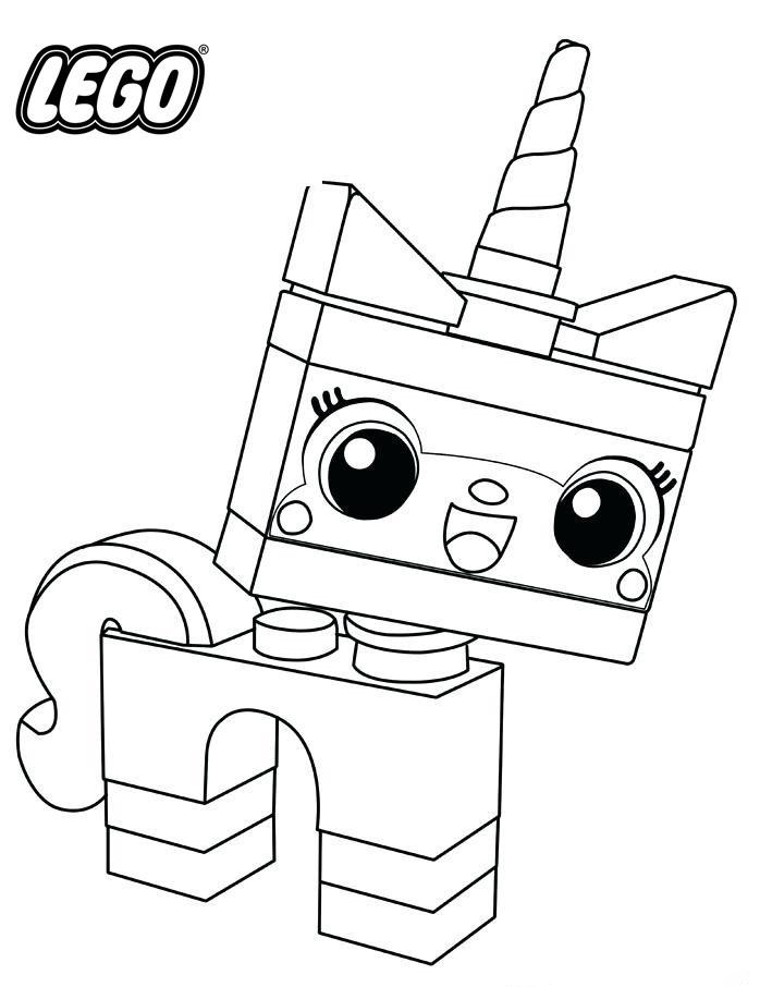 Lego Unikitty Avenger Coloring Page