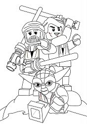 Lego Yoda Coloring Page