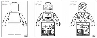 Lego Minifigure Robot